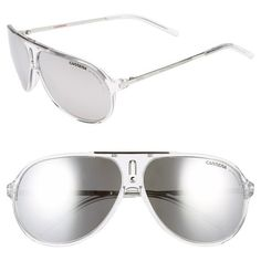 Men's Carrera Eyewear 'Hots' 64Mm Aviator Sunglasses ($139) ❤ liked on Polyvore featuring men's fashion, men's accessories, men's eyewear, men's sunglasses, mens sunglasses, mens eyewear and mens aviator sunglasses - Sale! Up to 75% OFF! Shop at Stylizio for women's and men's designer handbags, luxury sunglasses, watches, jewelry, purses, wallets, clothes, underwear