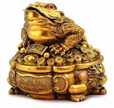 New Large Size Brass Thriving Business Feng Shui Money Frog(Three Legged Wealth Frog Money Toad) Treasure Basin Statue, Attract Wealth Good Luck,Feng Shui Decor online shopping - Chicprettygoods Feng Shui Money Frog, Casa Feng Shui, Consejos Feng Shui, Frog Sitting, Frozen Wallpaper, Money Pictures, Fantasy Forest, Good Luck, Wealth