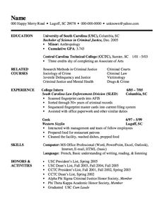 example of criminal justice resume httpexampleresumecvorgexample