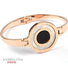 Bvlgari Bzero1 Bracelet in 18kt Pink Gold with Black & White Mother of Pearl