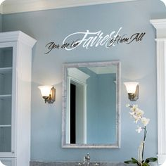 You are the Fairest of them All (wall decal from WallWritten.com).