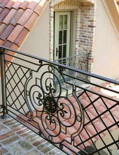 Beautiful Ideas For Balcony Grill Design My Sweet House. Beautiful Ideas For Balcony Grill Design My Sweet House. Home and Family Balcony Grill Design, Balcony Railing Design, Staircase Design, Gate Design, Door Design, Iron Stair Railing, Railings, House With Balcony, Iron Balcony