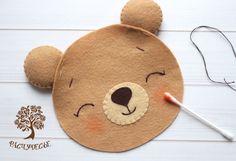 Шьем милую детскую игрушку из фетра «Новогодний Мишка» – Ярмарка Мастеров