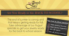 Hurry and check out our specials before August is over!