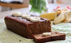 American banana bread, healthy et IG bas Healthy Banana Bread, Low Gi, Bread Cake, Biscuits, Brunch, Gluten, Coconut, Nutrition, Vegan