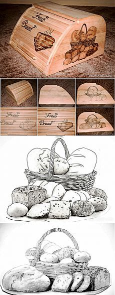 Хлебница / Выжигание / В рукоделии