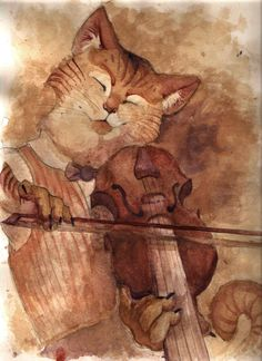 Hey Diddle Diddle - this kitty likes to fiddle!
