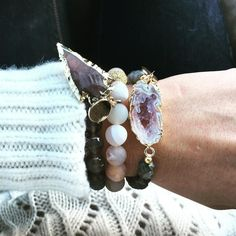 Mix and match from our individual bracelets. I think all of them can go together in some way. So glad it's Saturday!