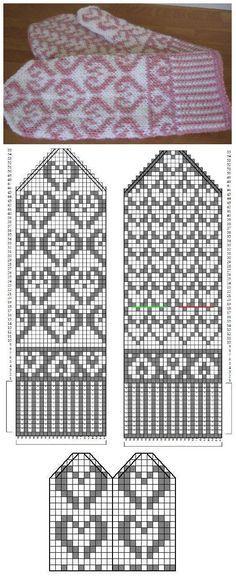 59 Ideas For Knitting Gloves Pattern Beautiful Knitting Charts, Knitting Stitches, Knitting Patterns Free, Crochet Patterns, Knitted Mittens Pattern, Knit Mittens, Knitted Gloves, Crochet Chart, Knit Crochet