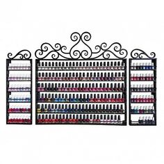 Wrought Iron Nail Polish Rack - $290 ,  https://www.ebuynails.com/shop/wrought-iron-nail-polish-rack/ #furniture #spasalon #spafurniture #nailtable #salonfurniture #nailsalon