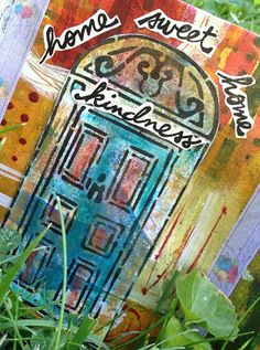 Jessica Sporn Designs: Home Sweet hOMe Journal 3, Smash Book, Mixed Media Art, Collage Art, Stencils, Home And Family, Sweet Home, Illustration Art, My Arts