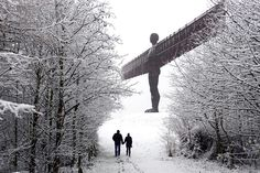 Angel of the North in the morning frost #PortofTyne #AngeloftheNorth #Angel #AnthonyGormley #sculpture #Gateshead #GatesheadAngel #NorthEastEnglandAttractions #Newcastle #NewcastleSightseeing #ThingsToDoInGateshead #winter #frost