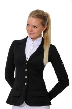 Spooks Riding Equestrian Show jumping Dressage jacket Breathable Black 14
