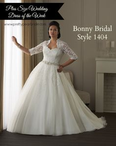 {Plus Size Wedding Dress of the Week} Bonny Bridal ~ Style 1404 | The Pretty Pear Bride - The World's Only Magazine for Plus Size Brides