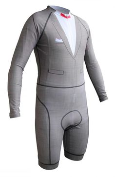 """Modeled after Pee-wee's iconic ensemble, this spandex skinsuit is available for purchase at Podium Cycling, who note that it is """"designed to help you tackle bike rides with humor."""""""