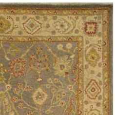 Safavieh Antiquity Collection AT314A Handmade Blue and Ivory Wool Area Rug, 4 feet by 6 feet (4′ x 6′)