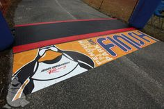 A finish line that stands out!  Created by Trump Direct using Asphalt Art www.asphaltartusa.com