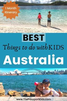 Find out the best 4 week itinerary for Australia with kids. Including Sydney, Great Barrier Reef, Whitsunday Islands, Me. Australia Tours, Visit Australia, Coast Australia, Australia Travel, Family Adventure, Adventure Travel, Travel With Kids, Family Travel, Family Vacations