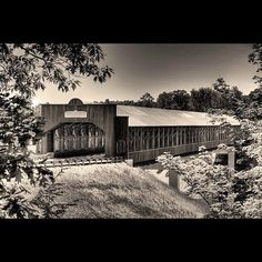 See the longest covered bridge in the United States in #Ashtabula, #Ohio