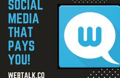 The latest social media craze-what is webtalk Money Now, How To Make Money, Social Marketing, Affiliate Marketing, Sms Text, Video Advertising, Business Networking, Social Media Site, Social Platform