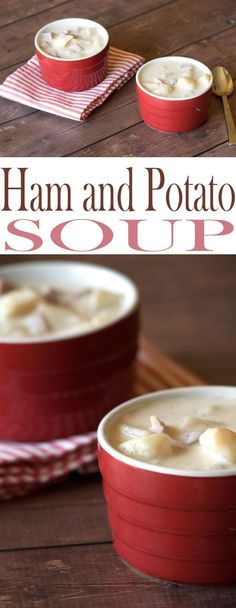 Homemade Ham and Potato Soup is the best kept secret soup recipe around. We're talking down home goodness and comfort in a bowl...of soup.