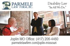 http://parmelelawfirm.com/joplin-missouri - A deep understanding of each client's social security disability case is essential for success. A free consultation at our Joplin MO office is the first step. Call (417) 206-4460 or visit Parmele Law Firm 614 South Main Street, Joplin, MO 64801 to schedule.