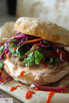 Grilled Asian Pork Burger by Heather Christo