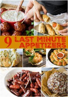 9 Last Minute Appeti