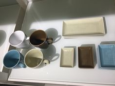 Try these nice colours together, this from Rosenthal.