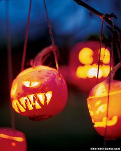 Halloween Decor: Turnip Jack-o'-Lanterns