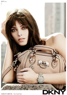 Ashley Greene DKNY accessories ad campaign