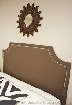 freckles chick: DIY upholstered headboard with nailhead trim (the sequel)
