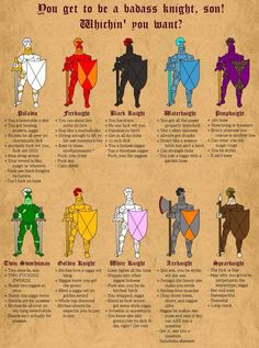 Which Knight are you? http://ift.tt/1eW2Qjk
