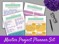 Brainstorm; envision the end; break it down into milestones; break it down into tasks; schedule the tasks.  Project Planner Template Set on Etsy