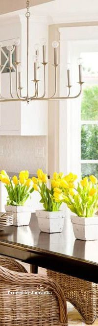 Hello March, Yellow Springs, Design Your Dream House, Love And Light, Spring Time, Tulips, Dreaming Of You, Beautiful Homes, Kitchens
