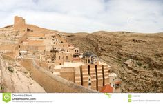 Mar Saba monastery | Mar Saba Convent Panoramic View. Stock ...