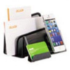 Desk Supplies>Desk Set / Conference Room Set>Holders> Files & Letter holders: DeskTek File Stands, Three-Section Letter, 4 4/5 x 6 9/10 x 4 7/10, Gray