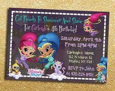 Shimmer And Shine Birthday Invitation  by DottyDigitalParty