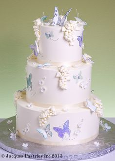I LOVE THIS CAKE AND THE BUTTERFLIES!