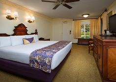 Disney Port Orleans French Quarter is a Disney Moderate Resort themed after New Orleans in LA. You will catch New Orleans decorations & Mardi Gras food Disney World Parks, Walt Disney World Vacations, Top Hotels, Hotels Near, Downtown Disney, French Quarter, Dresser Tv, Room, Chairs