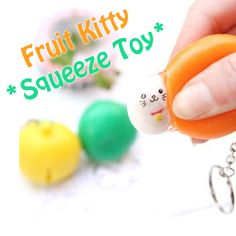 fruit kitty squeeze toy rare squeeze toy kawaii cute stuff
