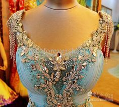 New Arrival Luxurious Brilliant Sweetheart Backless Crystals Evening Dress Graduation Dress Beads Chiffon Sweep Train 2013 Sexy Prom Dresses