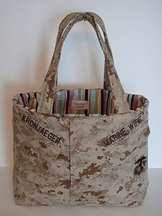 "Cant afford those expensive designer bags? Check here! Mine says ""Marine Mom"". Usmc Love, Marine Love, Once A Marine, Camo Bag, The Few The Proud, Marines Girlfriend, Marine Boots, Sister Love, Navy Wife"