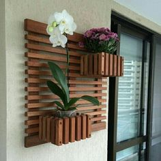 42 Ideas house garden terrace planters for 2019 Diy Garden, Plant Wall, Decor, Balcony Decor, Garden Rack, Garden Decor, Garden Design, Wood Art, House Plants Decor