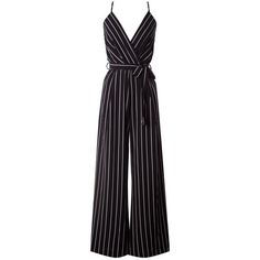 (pre-order) Black Striped Jumper (1.425 UYU) ❤ liked on Polyvore featuring jumpsuit, playsuit, night out tops, striped tops, party sweaters, jumper top and striped sweater