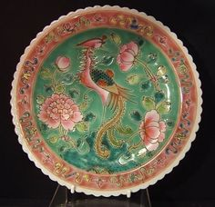 CHINESE FAMILLE ROSE NONYA STRAITS PORCELAIN PLATE