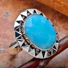 larimar dominicn Gemstone Rings, Turquoise, Gemstones, Jewelry, Jewlery, Gems, Jewerly, Green Turquoise, Schmuck