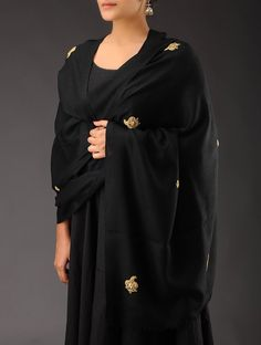 Buy Black Golden Zari Booti & Sequin Cashmere Wool Shawl Accessories Shawls Classic Emblaze Colorful Embellished in Online at Jaypore.com or visit www.richadesigns.in