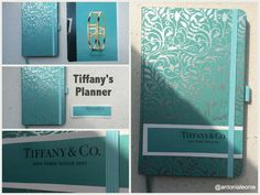 Personalized Tiffany & Co Planner - perfect for the new school year or college semester to start!  Planner by Korsch Verlag (Germany)  #planner #tiffanys #tiffanyandco #college #highschool #school #supplies #calendar #diy #crafty #turquoise #silver