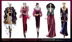 Disney villains go fashion I by *Sashiiko-Anti on deviantART
